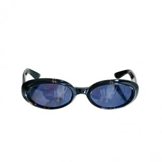 Gucci Black Oval Vintage Sunglasses
