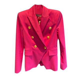 Flavio Castellani Pink Double Breasted Tailored Jacket