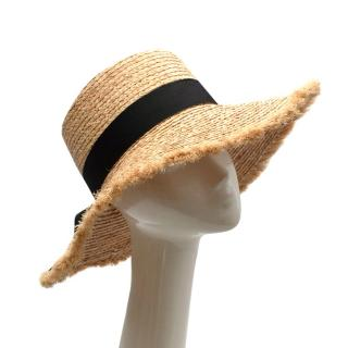 Lack of Color Ventura frayed grosgrain trimmed hat