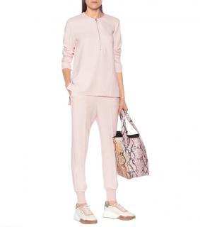 Stella McCartney Light Pink Stretch-Crepe Tapered Pants