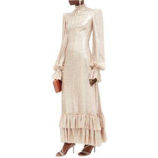 The Vampire's Wife Lame Cinderella Ruffled Dress