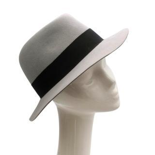 Maison Michel Paris Wool Felt Hat Grey