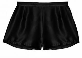 Maguy de Chadirac Black Silk Satin Shorts