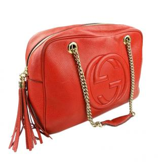 Gucci red soho large shoulder bag
