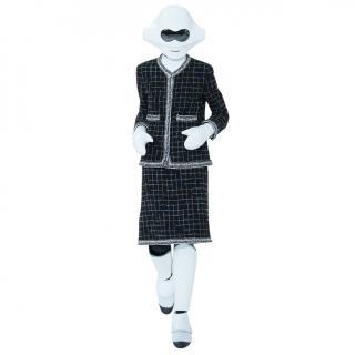 Chanel Black Fantasy Tweed Robot Runway Suit