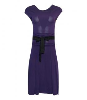 CH Carolina Herrera Purple Knit Dress
