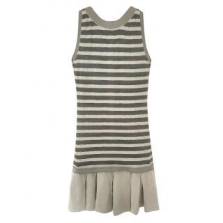 Ermanno Scervino Striped Sleeveless Dress