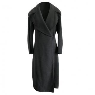 Donna Karan Grey Cashmere & Wool Coat