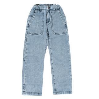 Bonpoint Light Denim Elasticated Waist Jeans