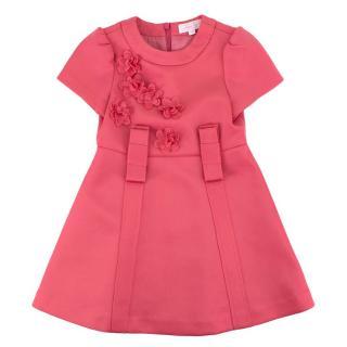 Nicholas & Bears Pink Floral Applique A-Line Dress