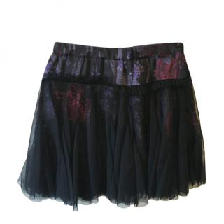 John Galliano Kids Chiffon Layered Printed Skirt