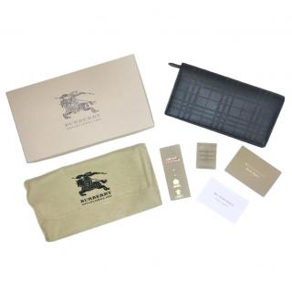 Burberry Black Perforated Check Continental Wallet