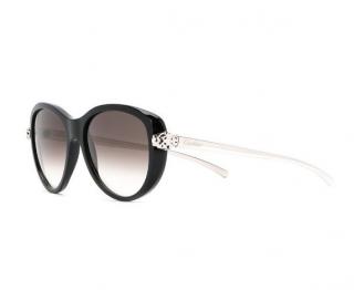 Cartier Black Oversize Panthere Sunglasses