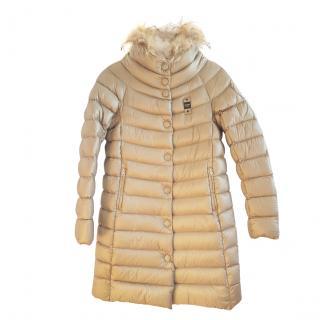 Blauer USA Gold Faux Fur Trim Puffer Coat