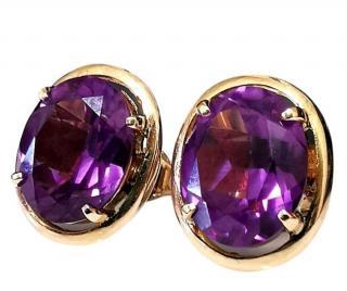 Bespoke Vintage Rose Gold Alexandrite Earrings