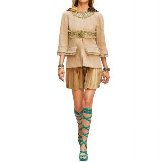 Chanel Paris/Greece Runway Beige Embellished Jacket
