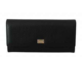 Dolce & Gabbana Black Saffiano Leather Bi-Fold Wallet
