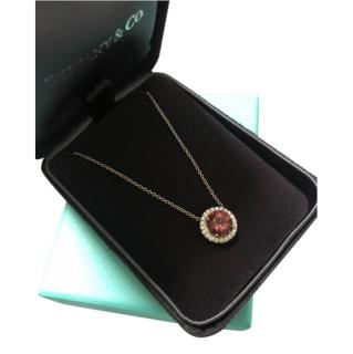 Tiffany & Co. Soleste Pink Tourmaline & Diamond Necklace