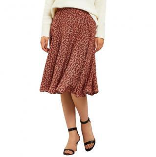Masscob Anjana Floral Silk Midi-skirt