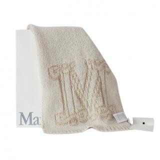 MaxMara creamy beige mohair blend M scarf