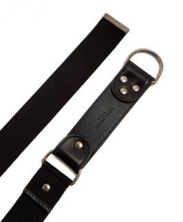 Saint Laurent Canvas and leather harness belt