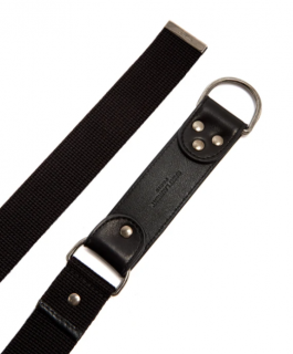 Saint Laurent Canvas and leather harness belt