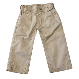 Burberry Baby Cotton Beige Chinos