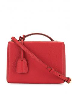 Mark Cross red textured leather Grace Bag sold out