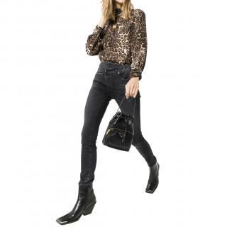 R13 black crossover jeans