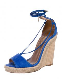 Aquazurra mondrian blue Alexa wedge sandals