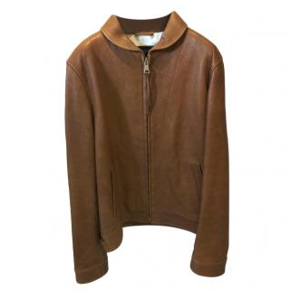 Gucci Tan Soft Leather Jacket