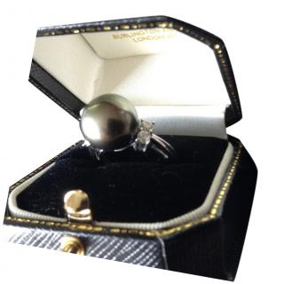 Bespoke Diamond & Tahitian Pearl Ring