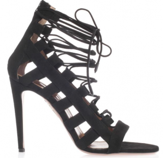 Aquazzura Black Amazon 105 Lace-up Pumps
