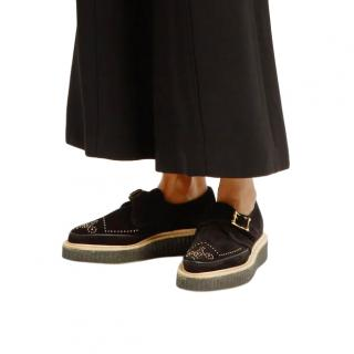 Rupert Sanderson Thelma monk-strap suede shoes