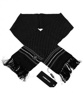 Dolce & Gabbana Black Spotted Mens Scarf