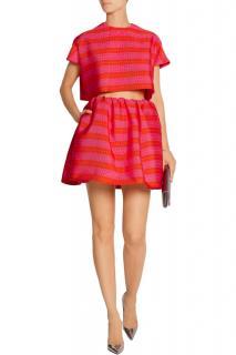 Delpozo Jacquard Striped Mini Skirt