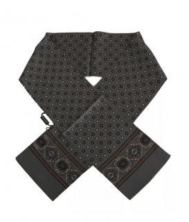 Dolce & Gabbana Grey Baroque Silk Mens Scarf