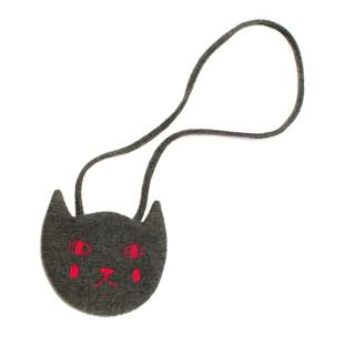 Bonpoint Dark Grey Cat Shoulder Bag
