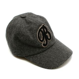 Bonpoint Grey Wool Felt Logo Cap
