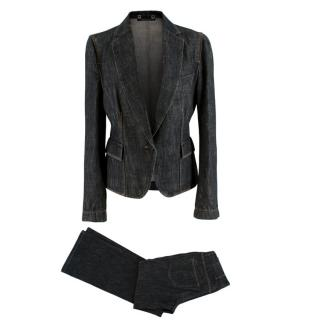 Gucci Denim Tailored Jacket & Heart Cut-Out Jeans