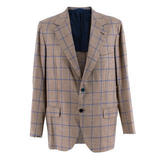 Donato Liguori Checkered Bespoke Tailored Single Breasted Blazer