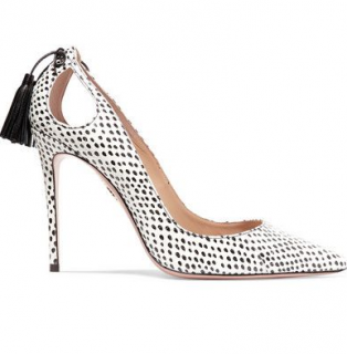 Aquazzura Forever Marilyn 105 Watersnake Print Pumps