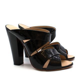 Giuseppe Zanotti Black Patent Leather Heeled Mules
