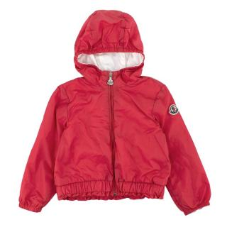 Moncler Dark Pink Hooded Kids Jacket