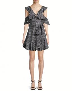 Zimmermann Polka Dot Ruffled Mini Dress