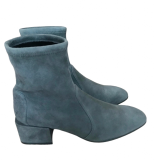 Stuart Weitzman Suede Sock Ankle Boots