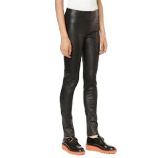 Zero + MariaCornejo Black Lambskin Leggings