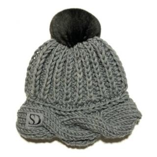 FurbySD Cable Knit Pom Pom Hat