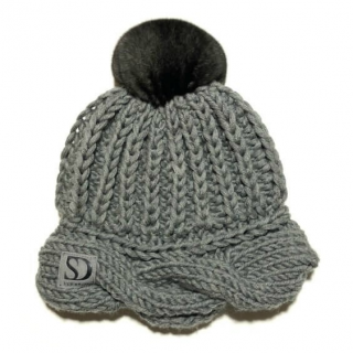 FurbySD Cable Knit Pom Pom Hat