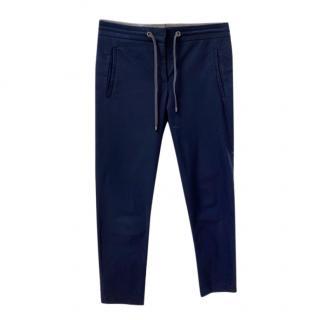 Brunello Cucinelli navy blue drawstring pants